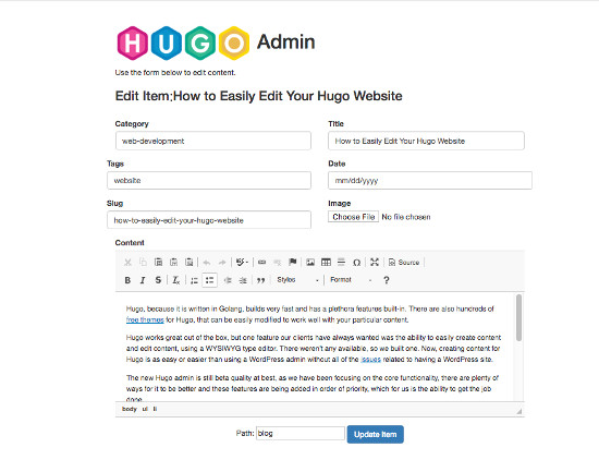 How to Easily Edit Your Hugo Website